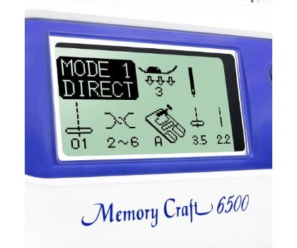 Janome Memory Craft 6500P sewing machine screen